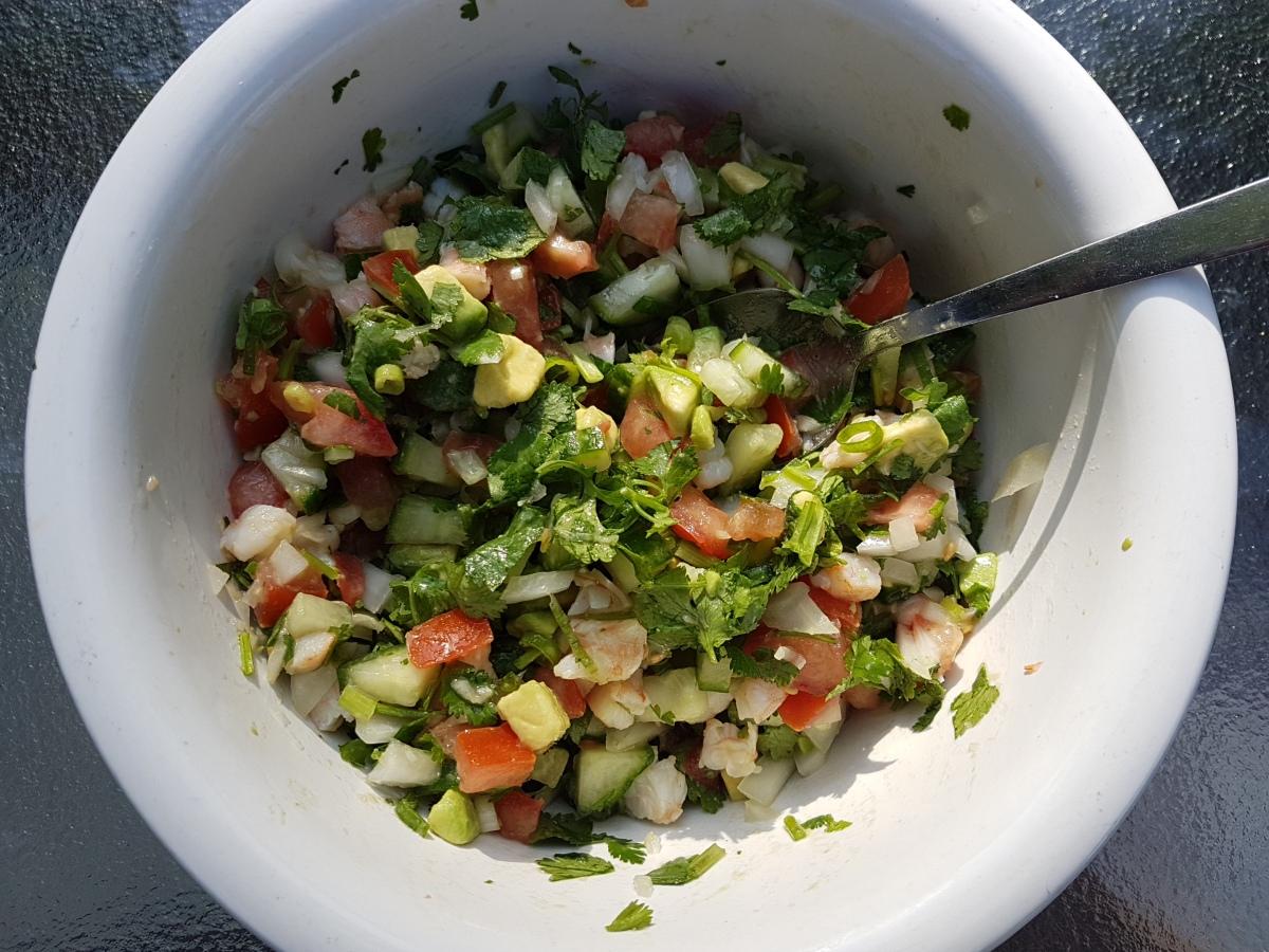 Salsa de Crevettes et Avocats