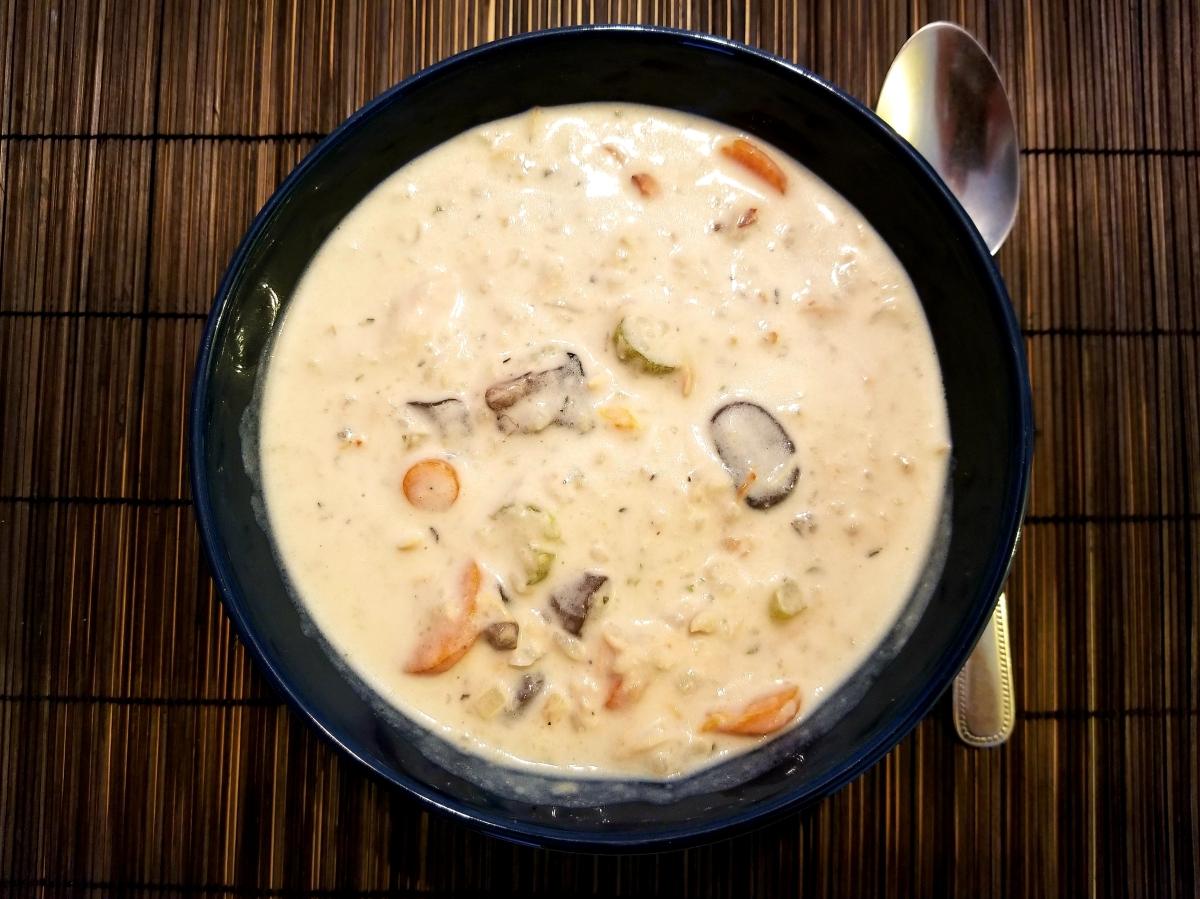 Soupe Crémeuse Poulet et Riz